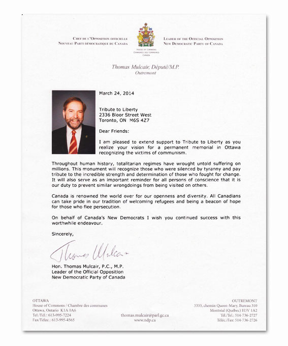 letters of reference trudeau going ahead with victims of communism memorial 34423